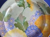 Lovely Gray's Pottery Art Deco Floral Wall Plate c1938